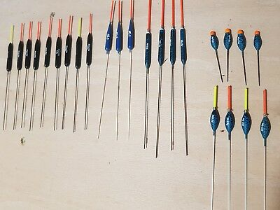Selection of 24 nick gilbert and sensas ppr3 pencil pole floats