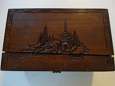 Carved Wooden Jewellery Box *Age Unknown*