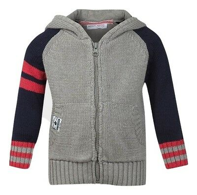 Minoti Boys Zip-Through Knitted Hoodie - Age 6/12 Months - BRAND NEW