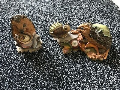 """COUNTRY ARTISTS HEDGIES """"Cradled With Love 91135 & 91026 Hedgie & Friend"""