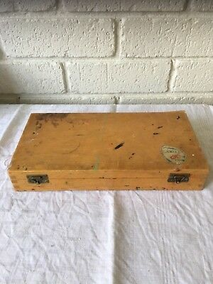 Vintage Wooden Painters Box