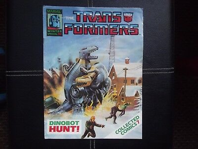 The Transformers 1980's Winter special collected comic 7 Marvel.