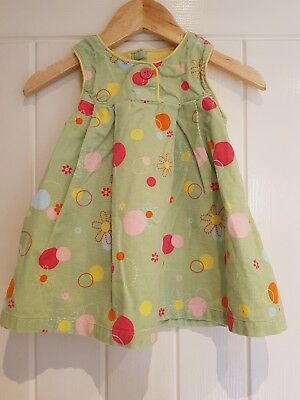 George girls green spotty dress age 3-6 mths