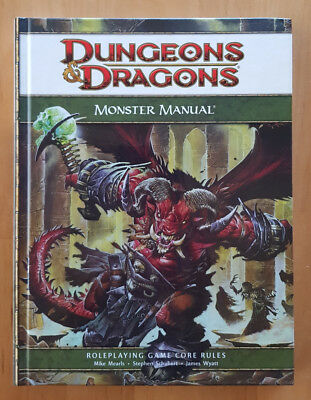 Dungeons & Dragons   4th Edition  Monster Manual  Guide  Core Rules