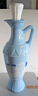 Vintage 1961 Jim Beam Decanter Blue Grecian Design  Socrates Plato Aristotle