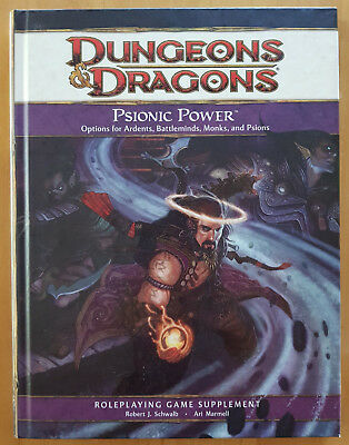 Dungeons & Dragons   4th Edition  Psionic Power  Game Supplement