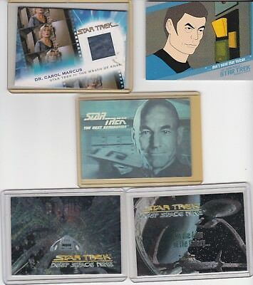 """""""star Trek""""  Lot Hologram , Chase Cards, Chase Sets, Worn Costume Relic"""