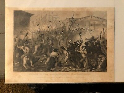 Lithograph Baltimore Riot Harpers Weekly Civil War 1861