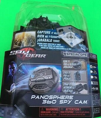 Spy Gear Panosphere 360-Degree Spy Cam New!