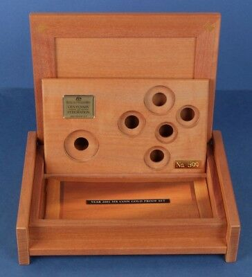 Australia: 2001 Federation Gold Proof Set Deluxe Wooden Empty Case (no coins)