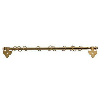 Dollhouse Miniature Brass Expandable Curtain Rod