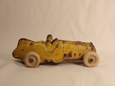 Vintage Hubley Cast Iron Race Car Boat Tail #5