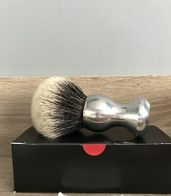 Carnavis & Richardson Aluminium 2 Band Badger Shaving Brush