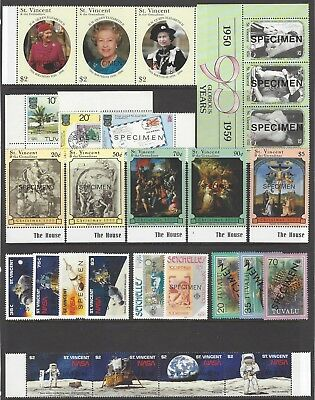 COMMONWEALTH collection unmounted mint MNH 'SPECIMEN' stamps, Seychelles/Tuvalu/