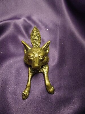 Brass Vintage Wolf Door Knocker