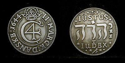 Danemark - Christian IV, 1588 - 1648,. 2 mark 1644, .. Name Jehovas