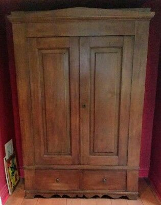 antique solid walnut armoire