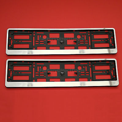 2x GLOSS CHROME Number Plate Surrounds Holders Frame for Private Reg Ford Cars