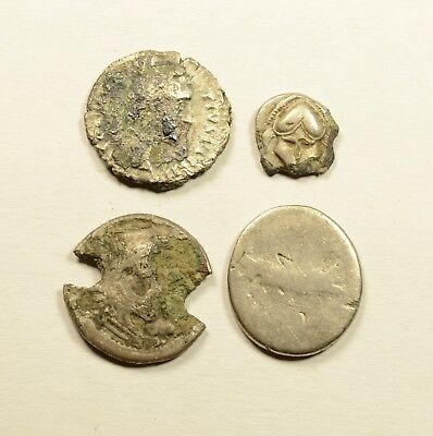 Scarce Lot Of 4 Ancient Greek / Roman Silver Coins