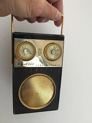 Zenith Royal 500E Long Distance Classic 50'S Transistor Radio Working Condition