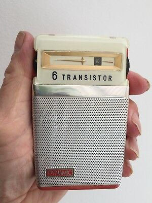 Vintage Dynamic 6-Transistor Radio Japanese 1963 + Case Working Condition