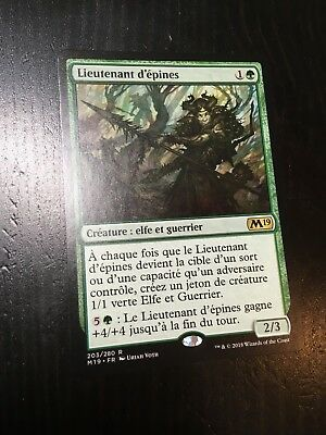 Mtg Magic M19 Thorn Lieutenant (French Lieutenant D'epines) Nm