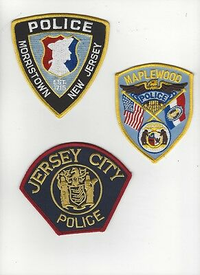 Set of 3 New Jersey Police Patches