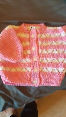 New Hand Knitted Baby Girl Cardigans 0-3 Months