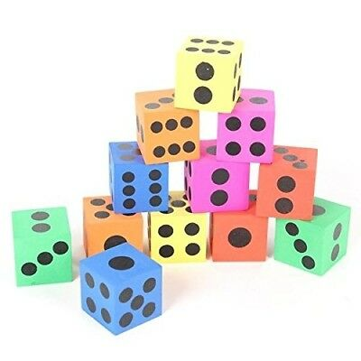 BinaryABC Mixed Colour Foam Dice,Building Block Toy,Safe Blocks,Playing
