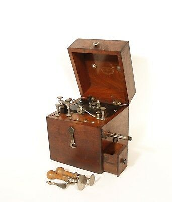 1885 Otto Flemming Electric Machine & Induction Coil * Philadelphia PA