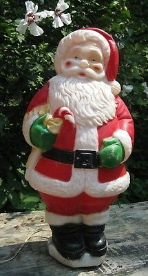 "Vintage Santa Claus Lighted Blow Mold Christmas Decoration -  31""  General Foam"