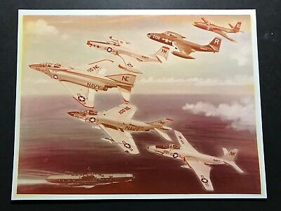 Mcdonnell Douglas Line Of Fighters Company Artwork- Mint!