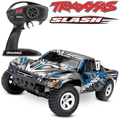NEW Traxxas 58024 Slash XL-5 2WD BLUE w/TQ 2.4GHz Short Course Electric RC Truck