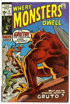 Where Monsters Dwell #11 FN/VF 7.0 ow/white pages  Marvel 1970  No Reserve
