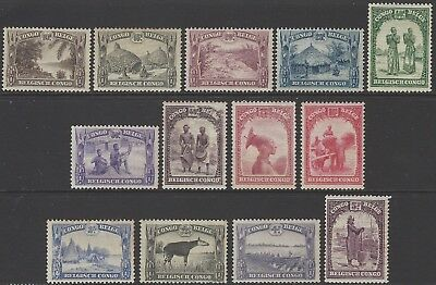 BELGIAN CONGO 1931 'Native Scenes' values to 5f unmounted mint MNH (not perfect)