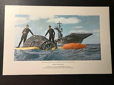 OUTSTANDING GEMINI 6  MCDONNELL DOUGLAS 17x11 HIGH  QUALITY LITHOGRAPH MINT
