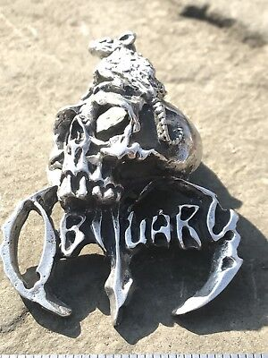 Obituary Pendent metal with rat and skull death metal ,