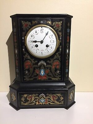 Antique Ebonised Boulle Bracket Clock