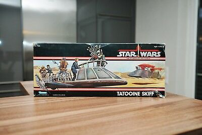 Star Wars Vintage Tatooine Skiff mit Box POTF 1985