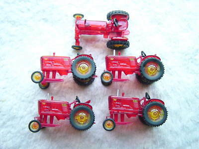 Lot of 5 Massey Harris 22 Red Tractor Christmas Miniature Light Covers
