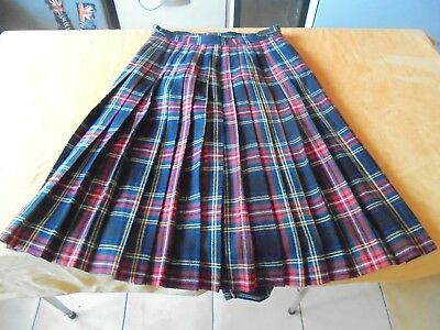 kilt tartan laine homme made in scotland UK 14 ou M