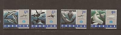 Faroe Islands 1998 Whales  & Dolphins Mnh Set Of Stamps