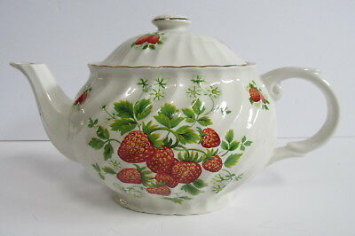 James Kent England Old Foley Strawberry Teapot App. 4 1/2 Cups