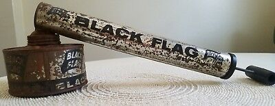 Vintage Black Flag  Pump Bug Sprayer - Very Rare Black / Silver Model Vintage