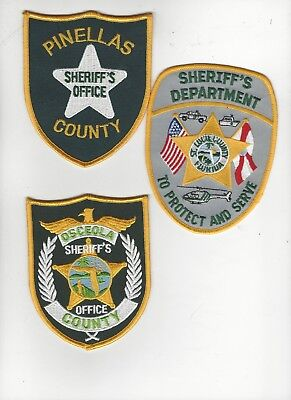 Set of 3 Florida Sheriff Dept Patches
