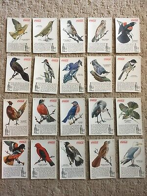 Coca-Cola Trading Cards 1920s-1930s BIRDS OF AMERICA, Full Set 1-20