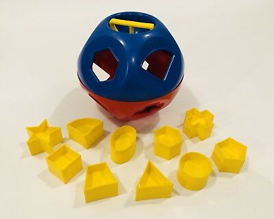 Vintage Tupperware Shape O Ball Shape Sorter Red Blue and Yellow Complete