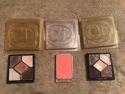 Christian Dior Eyeshadow Pallets And Blusher  USED