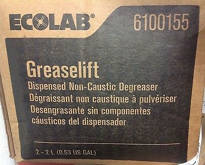 Carton of 2 Bags Ecolab #6100155 GreaseLift Non-Caustic Degreaser. Sealed & New.