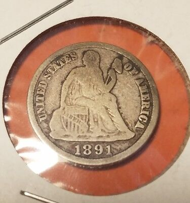 1891-S 10C Liberty Seated Dime